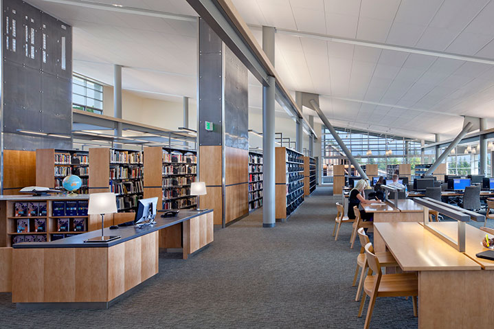 Mendocino college library learning resource center library area