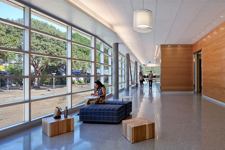 Mendocino college library learning resource cetner walkway