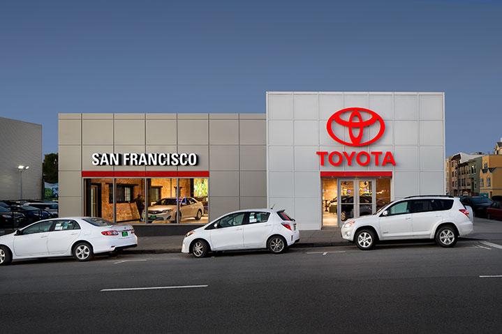 San Francisco Toyota Store Front facade