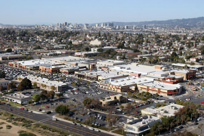 alameda town center arial photo