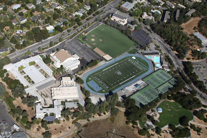 Marin Catholic campus arial photo