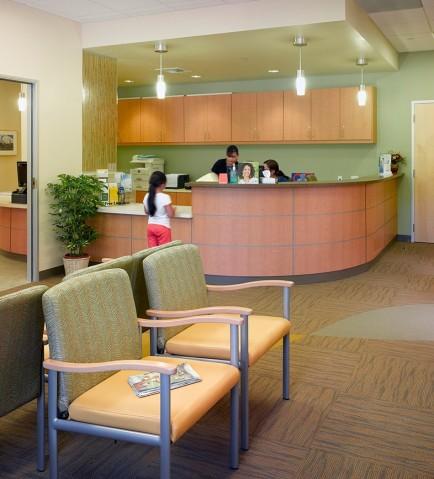 Petaluma Health Center waiting room