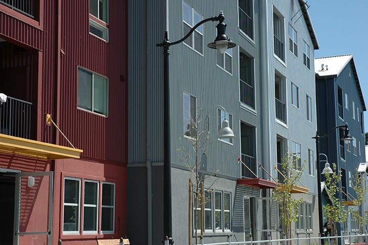 Waterfront apartments housing project in Petaluma.