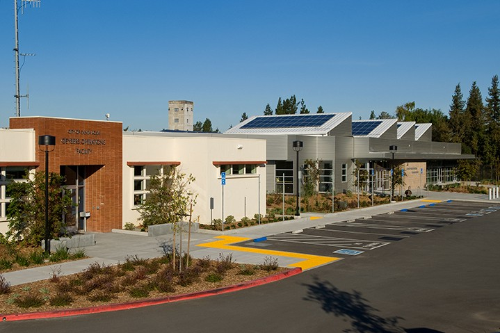 West college solar array and entry