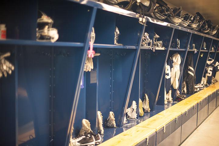 Marin Catholic Locker room