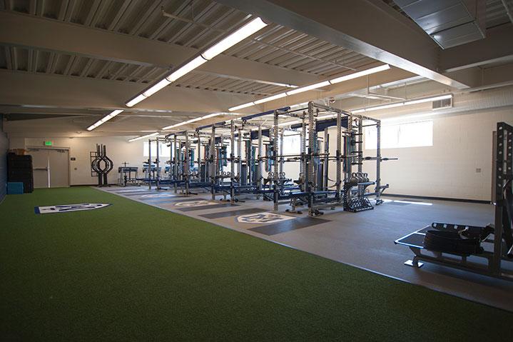 Marin Catholic interior weight room facility